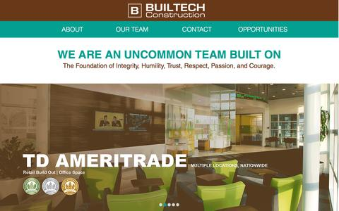 Screenshot of Home Page builtechconstruction.com - BUILTECH CONSTRUCTION General Contracting and Construction firm - captured Feb. 8, 2016