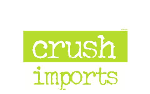Screenshot of Home Page crushimports.com - Crush Imports | Home - captured Sept. 30, 2014