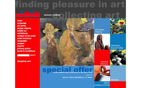 Screenshot of Press Page arteviva-shop.de - news - ArteViva Kunst & Design - captured Oct. 4, 2014