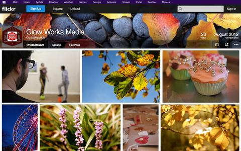 Screenshot of Flickr Page flickr.com - Flickr: GlowWorksMedia's Photostream - captured Oct. 22, 2014