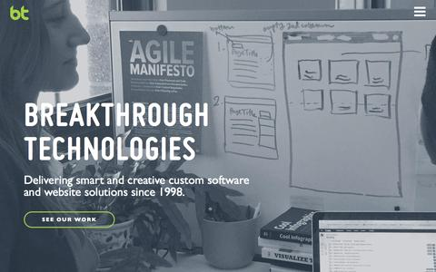 Screenshot of Home Page breaktech.com - Home | Breakthrough Technologies - captured March 15, 2016