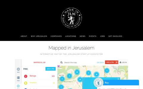 Screenshot of Locations Page madeinjlm.org - Locations — Made in JLM - captured Nov. 18, 2016
