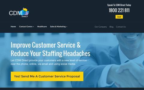 Screenshot of Support Page cdmdirect.com.au - Customer Service & Help Desk | CDM Direct - captured July 9, 2016