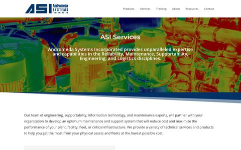 Screenshot of Services Page androsysinc.com - Services - Andromeda Systems Incorporated - captured March 5, 2019