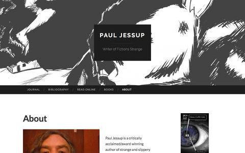 Screenshot of About Page wordpress.com - About   Paul Jessup - captured Feb. 22, 2018