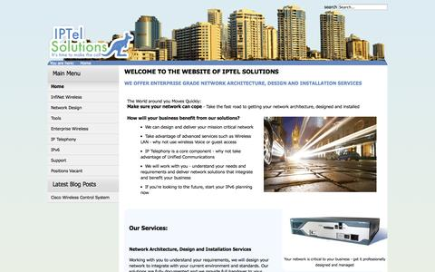 Screenshot of Home Page iptel.com.au - Home - captured Oct. 4, 2014