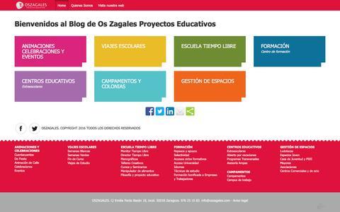 Screenshot of Blog oszagales.com - Os Zagales – Blog - captured Aug. 11, 2016