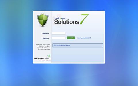 Screenshot of Login Page kaleidacare.com - KaleidaCare Solutions7 - captured Aug. 16, 2019