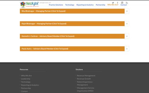 Screenshot of Team Page neolytix.com - Leadership - Management TeamNeolytix - captured Nov. 18, 2018