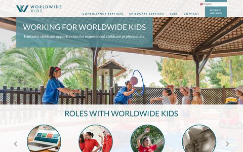 Screenshot of Jobs Page worldwide-kids.com - » Jobs At Worldwide Kids - Worldwide Kids - captured June 14, 2017