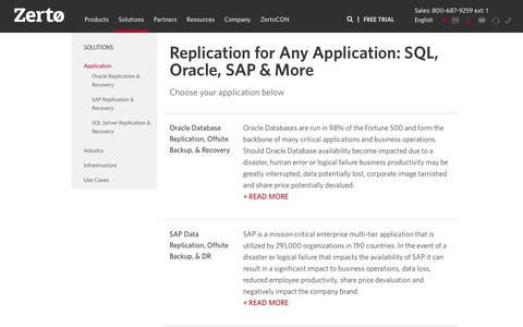 Replication for Any Application: SQL, Oracle, SAP & More!| Zerto