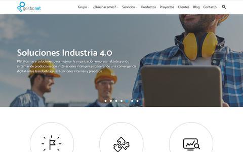 Screenshot of Home Page gestionet.net - GESTIONET - Gamificación, simulación y captación de talento - captured Sept. 28, 2018