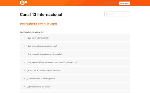 Screenshot of Support Page zendesk.com - Canal 13 internacional - captured Oct. 30, 2014