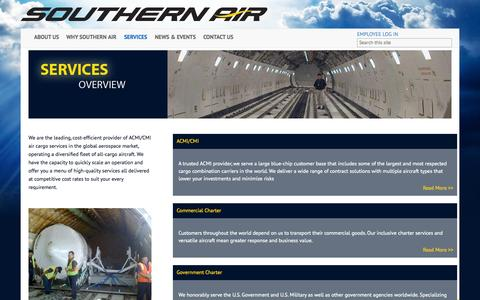 Screenshot of Services Page southernair.com - Southern Air                                       Services - captured June 16, 2015