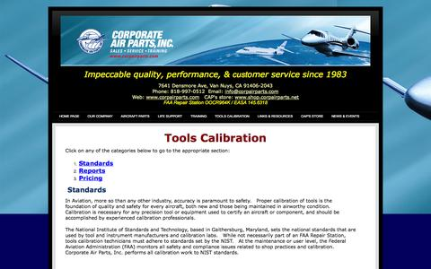 Screenshot of Pricing Page corpairparts.net - Tools Calibration - captured Oct. 3, 2014