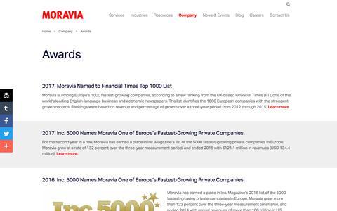 Awards - Moravia