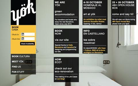 Screenshot of Home Page helloyok.com - yök Casa + Cultura Barcelona - captured Oct. 6, 2014