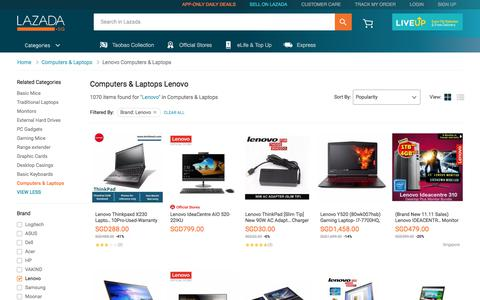 Latest Lenovo Computers & Laptops Products | Enjoy Huge Discounts | Lazada SG