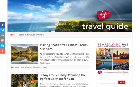 Screenshot of Blog virgin-vacations.com - Virgin Vacations Travel Guide - Your Guide to Travel Destinations Around the World - captured May 19, 2017