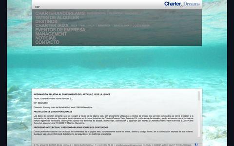 Screenshot of Terms Page charteranddreams.com - Alquiler barco Croacia - captured Oct. 2, 2014