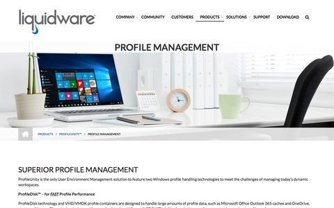 Screenshot of Team Page liquidware.com - Profile Management - Liquidware - captured Dec. 14, 2019