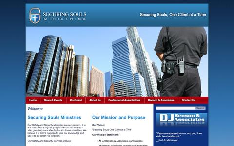 Screenshot of Home Page Privacy Page securingsouls.com - Securing Souls, One Client at a Time - captured Oct. 7, 2014