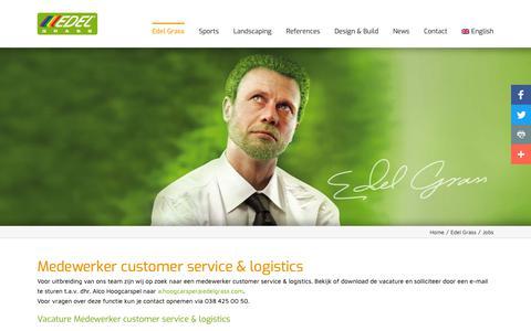 Screenshot of Jobs Page edelgrass.com - Jobs - Edel Grass - captured Sept. 27, 2018