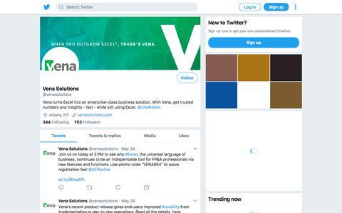 Tweets by Vena Solutions (@venasolutions) – Twitter