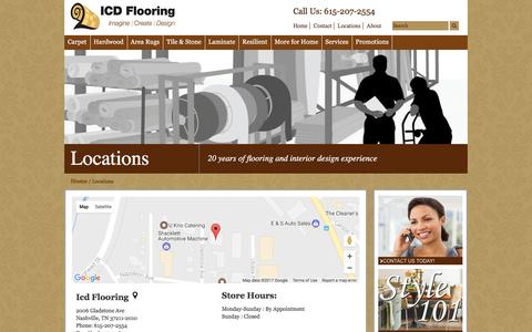 Screenshot of Locations Page icdflooring.com - Find everything you need at one of our nearby stores. - captured May 26, 2017