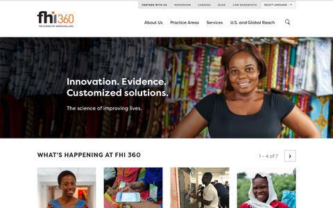Screenshot of Home Page fhi360.org - FHI 360 - captured Sept. 19, 2018