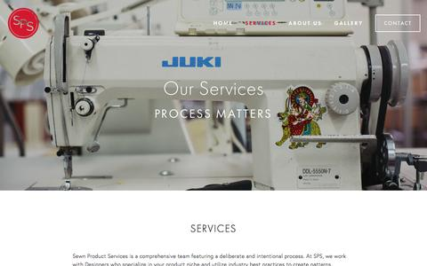 Screenshot of Services Page sewnproductservices.com - Services — Sewn Product Services - captured Nov. 21, 2016
