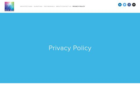Screenshot of Privacy Page ellisbelk.com - Privacy Policy — Ellis Belk - captured Sept. 28, 2018