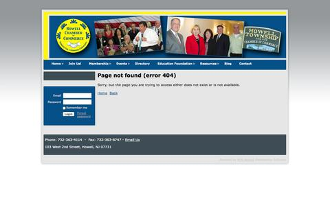 Screenshot of Contact Page howellchamber.com - Howell Chamber of Commerce - captured Oct. 3, 2014