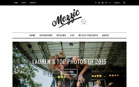 Screenshot of Home Page mezzic.com - Mezzic | Music Reviews, Interviews, & Live Coverage - captured Jan. 10, 2016