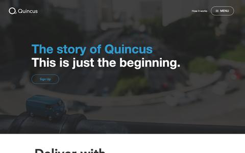 Screenshot of About Page quincus.com - Quincus – About - captured Nov. 5, 2018
