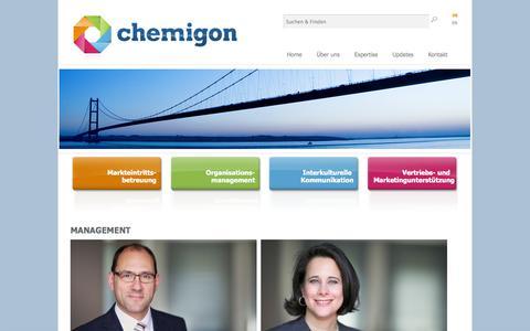 Screenshot of Team Page chemigon.de - Management bei transatlantischen Expansionen: Chemigon bietet Unterstützung - captured Nov. 1, 2014