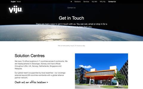 Screenshot of Contact Page vijugroup.com - Viju - Contact Us - captured Oct. 26, 2014