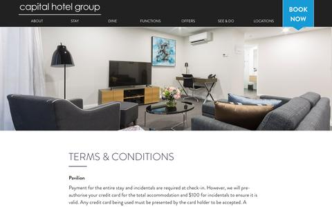 Screenshot of Terms Page capitalhotelgroup.com.au - Terms & Conditions   Capital Hotel Group - captured May 14, 2017