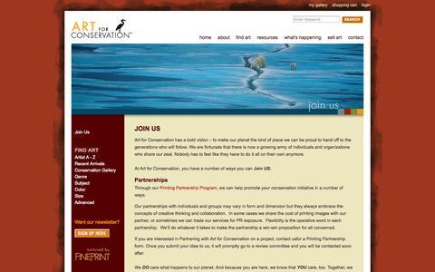 Screenshot of Signup Page artforconservation.org - Art for Conservation - captured Sept. 30, 2014