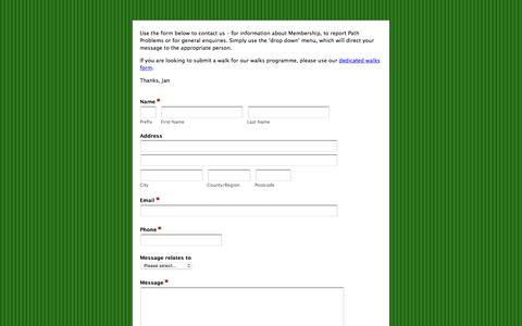 Screenshot of Contact Page formstack.com - North Dorset Ramblers Group | contact form - Formstack - captured Jan. 31, 2017
