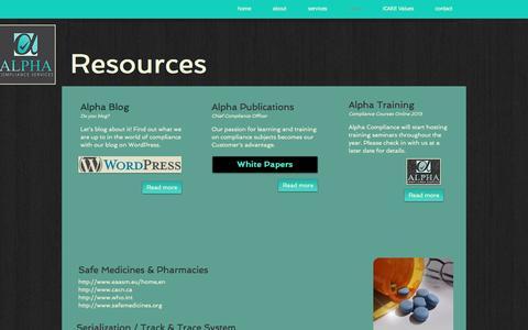 Screenshot of Press Page alphacompliance.com - Alpha Compliance Services | news - captured Nov. 20, 2016