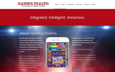 Screenshot of About Page gamingrealms.com - About   GamingRealms - captured May 15, 2017