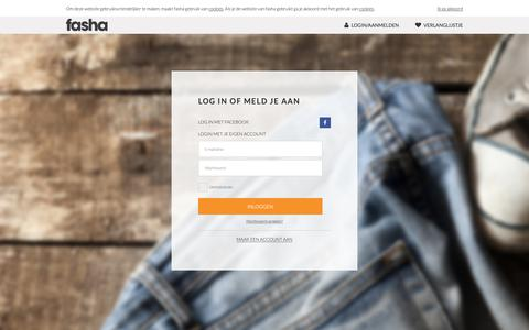Screenshot of Login Page fasha.nl - Log in of meld je aan | fasha.nl - captured Nov. 6, 2018