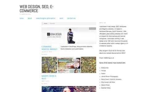 Screenshot of Services Page rikmg.co.uk - Services Archives | Web Design, SEO, E-commerce - captured July 2, 2016
