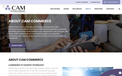 Screenshot of About Page camcommerce.com - About Us   CAM Commerce Solutions - captured Sept. 26, 2018