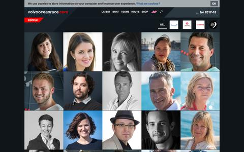 Screenshot of Team Page volvooceanrace.com - People | Volvo Ocean Race - captured March 1, 2017