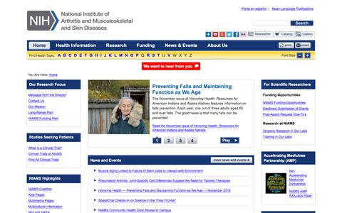 Arthritis, Musculoskeletal and Skin Diseases Home Page