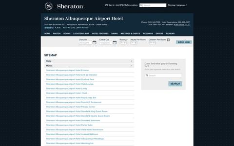 Screenshot of Hours Page sheratonalbuquerqueairport.com - Sheraton Albuquerque Airport Hotel | Official Website | Best Rates, Guaranteed. - captured Dec. 21, 2015