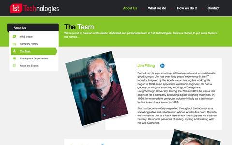 Screenshot of Team Page 1st-tech.co.uk - The Team - 1st Technologies - captured Nov. 5, 2014