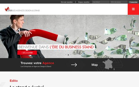 Screenshot of Home Page leads-france.com - LEADS - Les Agences Design & Stand - captured Jan. 29, 2018